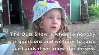 Temma Schaechter interviews other Yiddish-speaking children at the 2010 Yiddish Week. טעמע־ליבע שעכטער אינטערוויויִרט אַנדערע ייִדיש־רעדנדיקע...