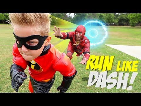 Run Like DASH, Future Little FLASH! The Incredibles 2 Gear Test For Kids!