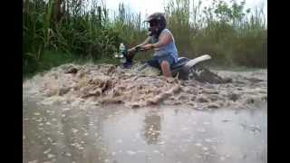 10. Polaris Scrambler 500 4x4 Mudding
