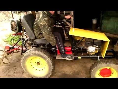 Лопата-отвал и передний подъемный механизм на мототракторе.