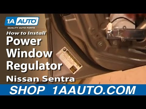 How To Install Replace Front Power Window Regulator Nissan Sentra 00-06 1AAuto.com