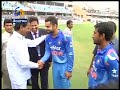 India, Srilanka Cricketers Greeted by KCR - T