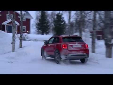 Fiat 500X on ice
