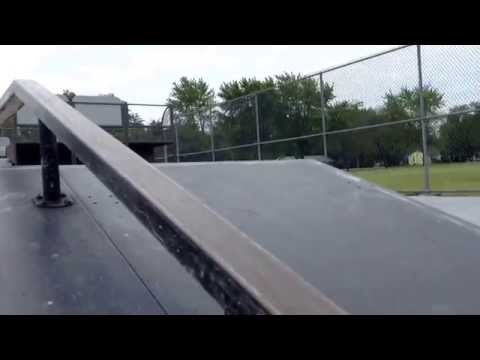 Winthrop harbor skatepark:scooter session
