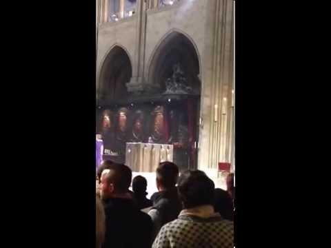 Notre dame cathedral Paris service hallelujah