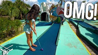 Video I Made The IMPOSSIBLE Mini Golf Hole In One!!! MP3, 3GP, MP4, WEBM, AVI, FLV Desember 2018