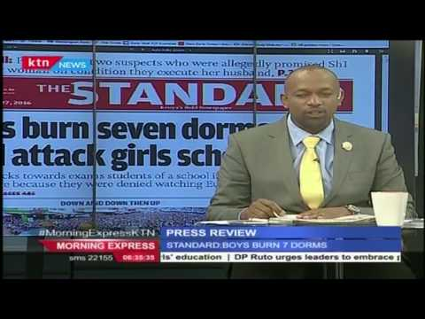 How Itierio Boys students stormed neighbouring girls school after burning dormitories