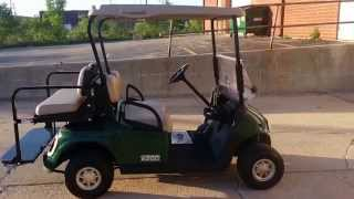 2. 2011 GAS EZGO RXV  Golf Cart with 13hp 401cc Kawasaki Engine, Flip Seat and Light Kit