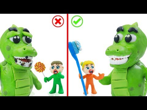SUPERHERO BABY RESCUES ANIMAL ALLIGATOR  Play Doh Stop Motion Cartoons