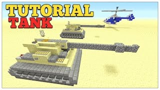 Minecraft: How To Build A Desert Tank Tutorial | Army Tank, Xbox/Ps3/Ps4/MCPE. 2016