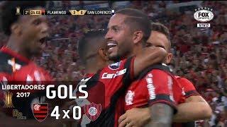 Gols - Flamengo 4 x 0 San Lorenzo (ARG) - 1ª Rodada Libertadores 2017 (Grupo 4) - 08/03/2017 Narração: João Guilherme, Comentários: Zinho e PVC Estádio: Mara...