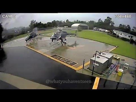 Hurja tilanne kun kaksi poliisihelikopteria osuu toisiinsa