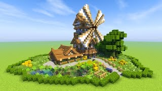 Minecraft Medieval WINDMILL Inspiration - Last Of Us 2 Trailer Song - Through The Valley