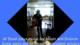 Jill Sissel plays live for seniors movin' & Groovin' Exericse