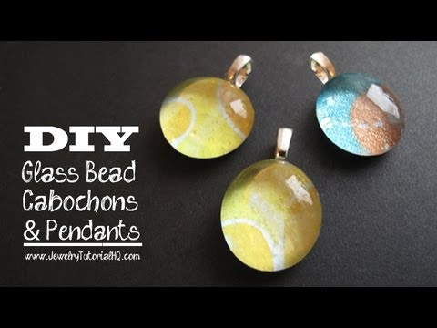 cabochon pendants - tutorial