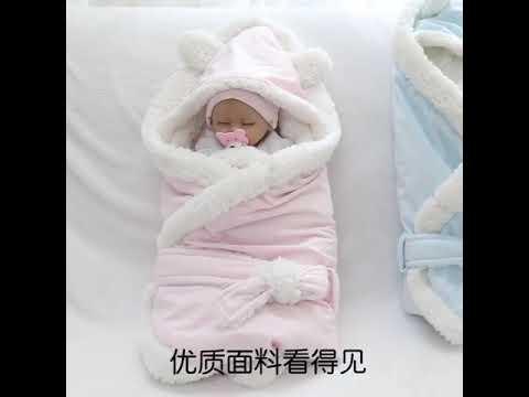 Новое зимнее детское одеяло, бархатное пеленание младенца, для мальчиков и … видео