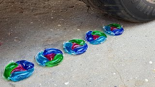 Crushing Crunchy & Soft Things by Car! EXPERIMENTS - BABY CAT VS CAR TEST