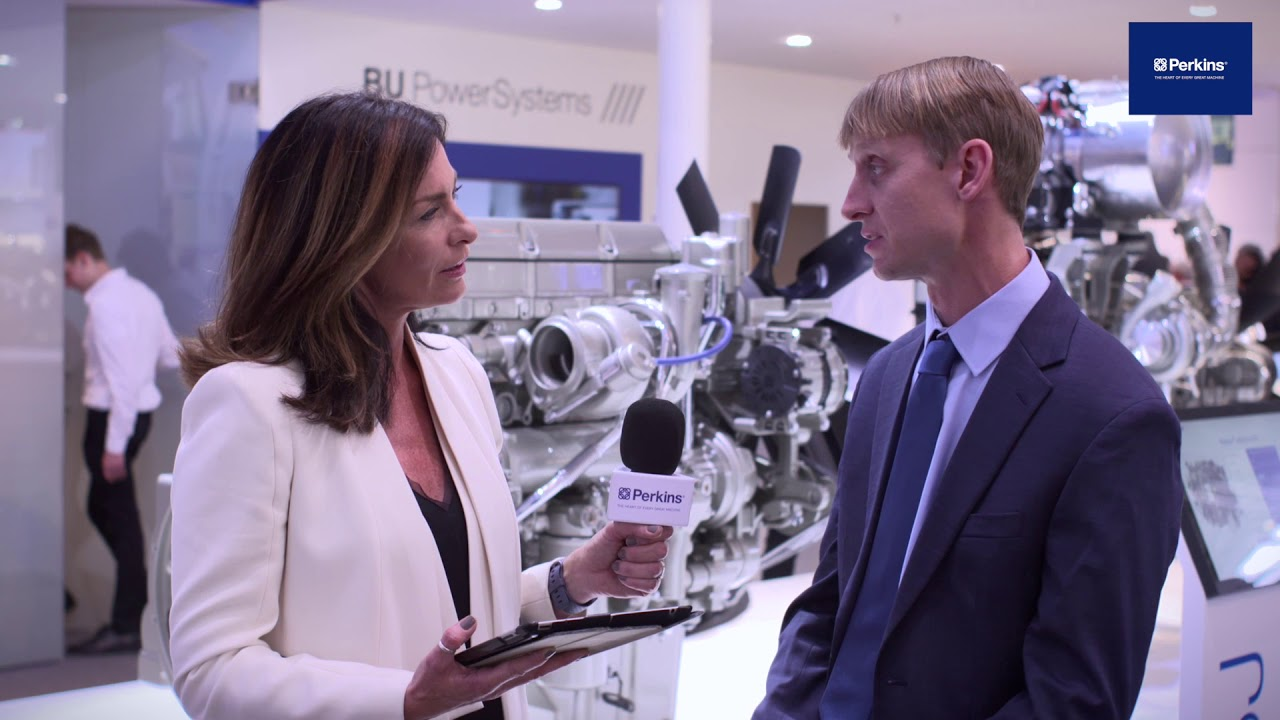 Spencer Huhn, Engineering manager, on Perkins powerful 9-18 litre engine range at bauma Munich 2019