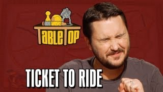 Ticket to Ride: Wil Wheaton, Colin Ferguson, Anne Wheaton, and Amy Dallen. TableTop ep. 4