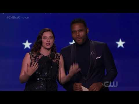 Rachel Bloom & Anthony Anderson present at the 2018 Critics' Choices Awards on the CW