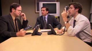 Michael, Jim, Dwight epic scene