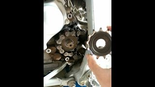 6. WR250R! Sprocket change with torque specs!