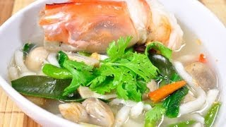 Thai Food - Spicy Udong Noodle With Srimp (Udong Tom Yum Goong Nam Sai)