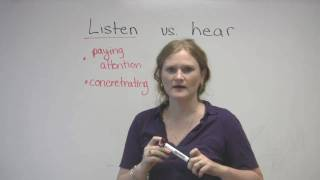English Vocabulary - Listen&Hear - What's the difference?