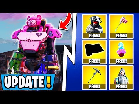 *NEW* Fortnite 9.40 Update! | All 12 Free Items, Mecha Vs Monster Event, Skins!