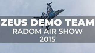 Zeus Demo Team na pokazach Radom Air Show 2015