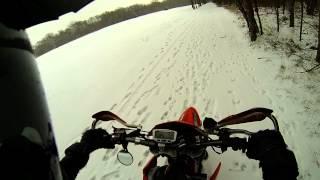 5. Snowday in Texas - KTM 560 SMR