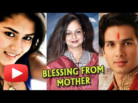 Shahid Kapoor - Mira Rajput Get Blessings From Sha