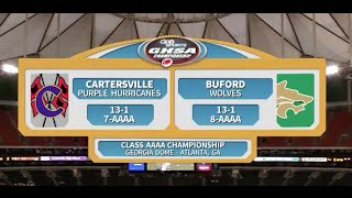 10. Cartersville vs. Buford