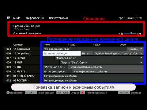 Функция записи цифровых телепередач в телевизорах BRAVIA (видео)