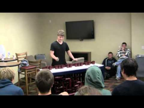 College student makes an instrument out of PVC pipes and plays an awesome medley on it