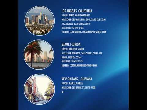 Consulados de Honduras en EEUU (2017) - Contactos -