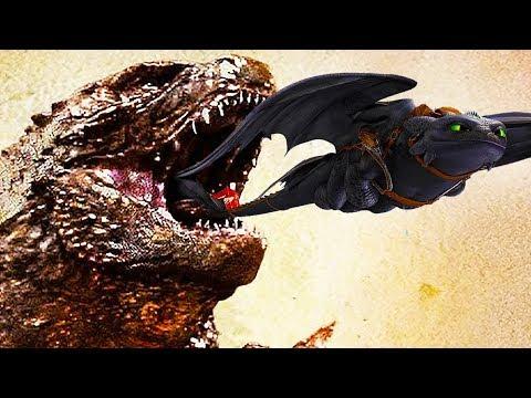 ГОДЗИЛЛА против БЕЗЗУБИКА. Как приручить дракона 3. ОЛУХ под угрозой