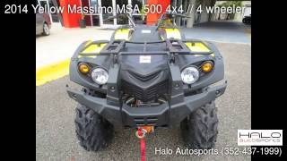 7. 2014 Yellow Massimo MSA 500 4x4 // 4 wheeler - Brooksville, FL 34613 - Used Cars