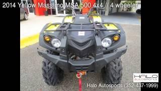 8. 2014 Yellow Massimo MSA 500 4x4 // 4 wheeler - Brooksville, FL 34613 - Used Cars