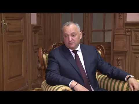 Igor Dodon a avut o întrevedere cu Farit Muhametșin în legătură cu încheierea mandatului în țara noastră