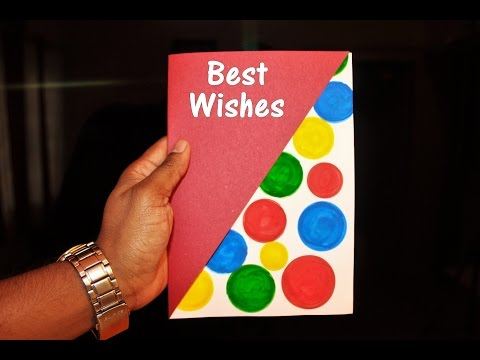 DIY - How to make a Greeting Card for New Year 2018 - Easy