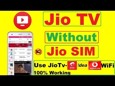 Jio TV Without Jio Sim   Use Other Sim Idea,Vodafone,Airtel or WiFi connection  & Jio TV Casting
