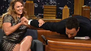 Nonton Ronda Rousey Puts Jimmy Fallon In An Armbar Film Subtitle Indonesia Streaming Movie Download