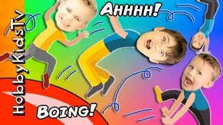 We FLY across the room on a blob catapult! Hilarious reactions. Subscribe for NEW Shows: http://www.youtube.com/subscription_center?add_user=HobbyKidsTV ---T...