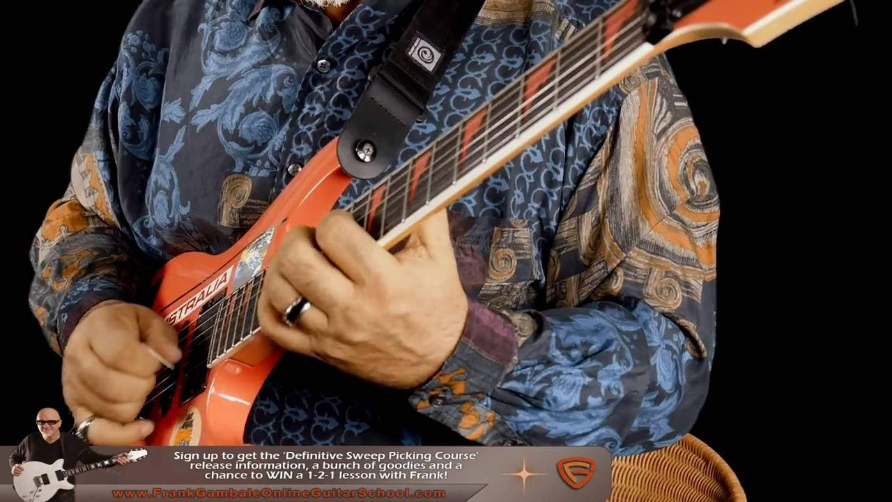 Sweep Picking Medley – Frank Gambale New Guitar Performance Video