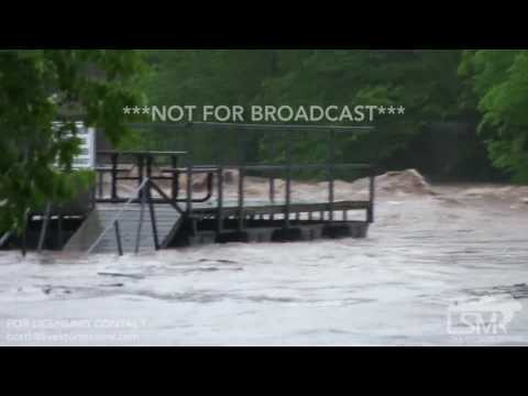 4-29-2017 Branson, MO  Businesses and Apartments Flooded - Interview Chest Deep in Water