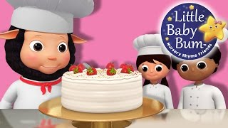 Bake, Bake A Cake | Nursery Rhymes | By LittleBabyBum!