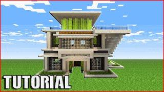Minecraft Tutorial: How To Build A Quartz House | Modern house Tutorial [ How To Make