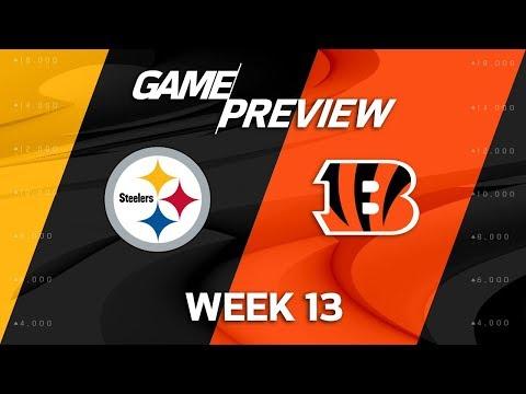 Video: Pittsburgh Steelers vs. Cincinnati Bengals   NFL Week 13 Game Preview   NFL Playbook
