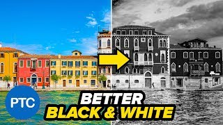 How To Make BLACK and WHITE Photos In PHOTOSHOP - Two Easy Conversion Techniques